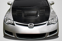 Carbon Creations 2006-2011 JDM Honda Civic 4DR DriTech Supremo Hood - 1 Piece