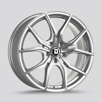 Drag Wheels Dr-67 19x8 5x114.3 Platinum Silver et40 Rims (DR67198064073PSF1)
