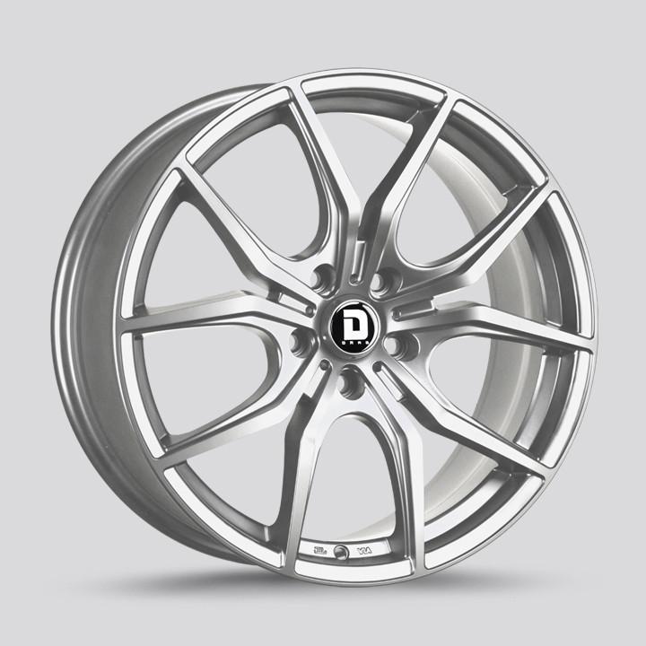 Drag Wheels Dr-67 19x8 5x112 Platinum Silver et32 Rims (DR67198213266PSF1)