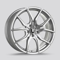 Drag Wheels Dr-67 19x8 5x120 Platinum Silver et38 Rims (DR67198233872PSF1)