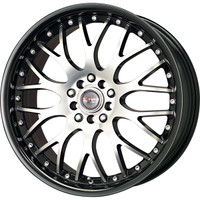 Drag Wheels DR-19 17x7.5 5x100 5x114.3 Black Lip Machined Face rims