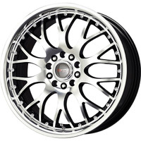 Drag Wheels DR-19 17x7.5 5x100 5x114.3 Black Machined Face rims