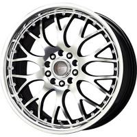 Drag Wheels DR-19 18x7.5 5x100 5x114.3 Black Machined Face rims
