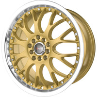 Drag Wheels DR-19 17x7.5 5x100 5x114.3 et45 Gold rims