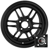 Drag Wheels DR-21 15x7 4x100 Flat Black Full rims