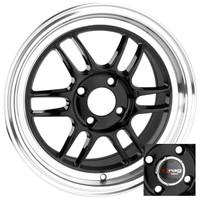 Drag Wheels DR-21 18x7.5 4x100 4x114.3 Gloss Black rims