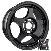 Drag Wheels DR-23 15x6.5 4x100 Flat Black Full rims