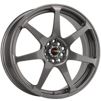 Drag Wheels DR-33 18x7.5 5x100 5x114.3 Gun Metal Full rims