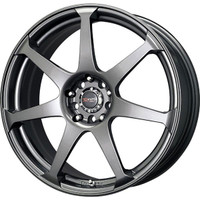 Drag Wheels DR-33 16x7 5x100 5x114.3 Charcoal Gray Full rims