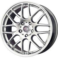 Drag Wheels DR-37 19x8 5x120 et38 cb72.56 SBC Hyper Silver Mesh rims