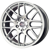 Drag Wheels DR-37 19x9.5 5x120 et30 cb72.56 Hyper Silver Mesh rims