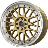 Drag Wheels DR-44 17x7.5 5x100 5x114.3 Gold rims
