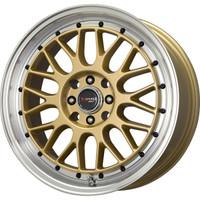Drag Wheels DR-44 17x7.5 5x100 5x114.3 Gold rims