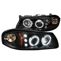 2000-2005 Impala Headlights (Projector, Halo, LED, in Black housing)