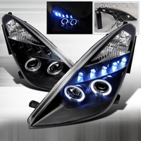 2000-2005 Celica Headlights (Projector, Halo, in Black housing)