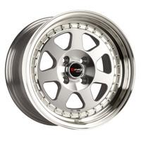 Drag Wheels DR-27 15x7 4x100 et10 Full Machined Face rims
