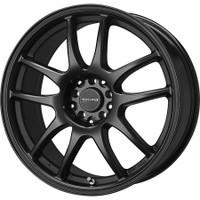 Drag Wheels DR-31 15x6.5 4x100 4x114.3 Flat Black Full rims