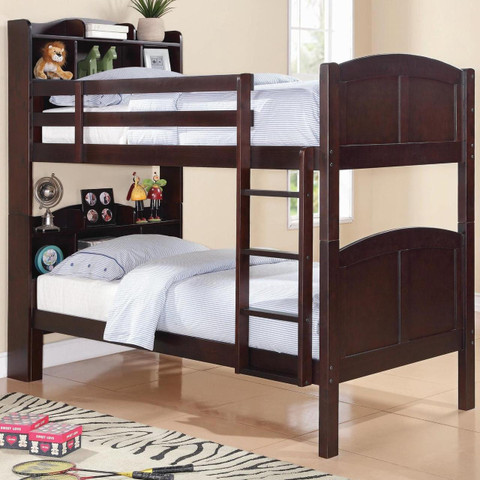 Parker Bookcase Bunk Bed Image 1
