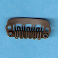 Mini Brown Comb Clips