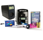 Plastic Photo ID Card Printer with LCD Display