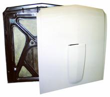 Pictured:  Hood,1965-66 extreme lightweight, race, fiberglass with Coremat reinforcement, approx. 17 lbs (Part # 100-350THXR).