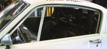 R-Model Side Window Frames, (pair) 1965-66 Shelby/Mustang Fastback, Plexiglass NOT included
