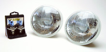 Complete Headlight Assembly, each, 7'' halogen 60 watt high and 55 watt low with replaceable bulbs