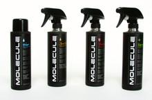 Pictured:  (Left to right) Molecule Wash, Molecule Spot Cleaner, Molecule Protector, Molecule Refresh.