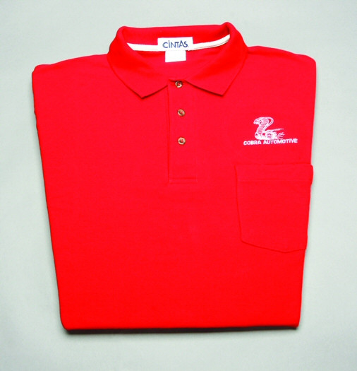 Shirt Polo Short Sleeve With Pocket And Snake Logo Red Large