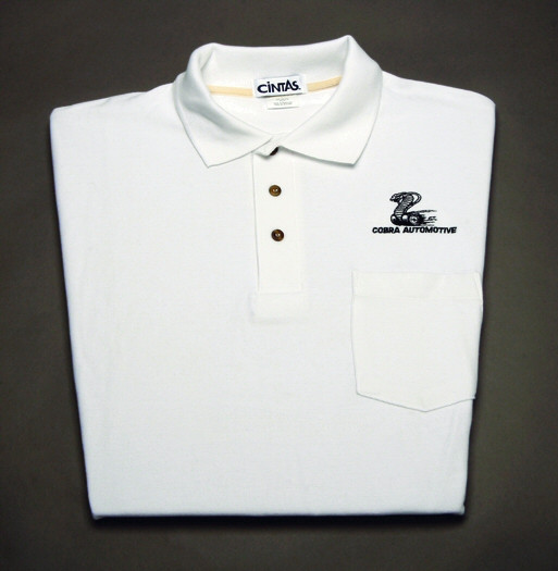 Shirt Polo Short Sleeve With Pocket And Snake Logo White Large