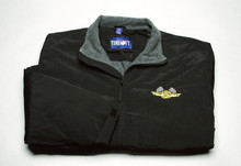Jacket, Three Season with checkered flag logo, black, large