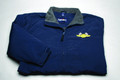 Jacket, Three Season with checkered flag logo, navy blue, large