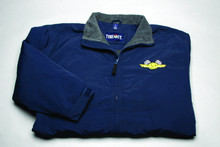 Jacket, Three Season with checkered flag logo, navy blue, x-large