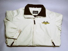 Jacket, Three Season with checkered flag logo, khaki, x-large