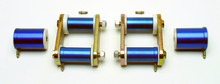 Pictured:  Solid Competition Shackle Kit 1965-73 1965-73 (Fits stock size spring eyes)