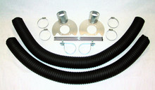 Pictured:  Complete Standard Front Brake Cooling Kit for 12'' Competition Front Brakes (Part # 100-2100).