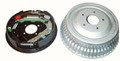 Pictured:  Drum Brake Ford 8'' & 9'' Small Bearing Housing Flanges (Part # MPB-DR1504K).