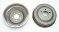Pictured:  Finned 11''x 2-1/4'' Drum Wagner Brand for Axles with 2.77'' Locator (each) (Part # 304-60288F).