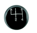 Hurst Black classic shift ball 4 sp 3/8''-16