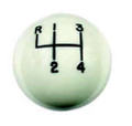 Hurst White classic shift ball 4 sp, 3/8-24