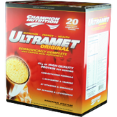 Champion-Nutrition-Ultramet-Banana-Cream-20-ct | Muscleintensity.com
