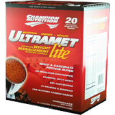 Champion-Nutrition-Ultramet-Lite-Chocolate-Fudge-20-ct | Muscleintensity.com