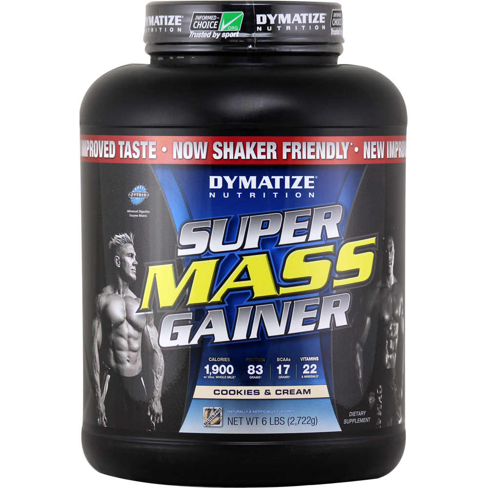 Dymatize Nutrition Super Mass Gainer Cookies And Cream 6 Lbs Supermass 12lbsb