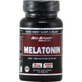 Bio-Sport USA Melatonin 100 ct | Muscleintensity.com
