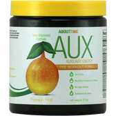 About Time AUX Pre-Workout Passion Fruit 30 svg | Muscleintensity.com