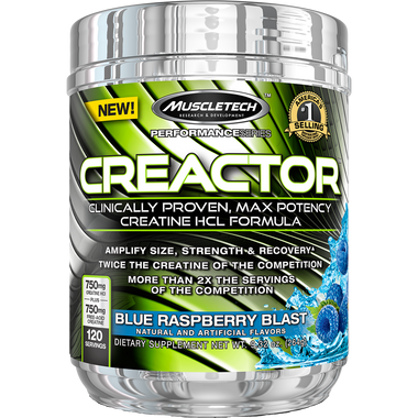 MuscleTech Performance Series Creactor Blue Raspberry 120sv | Muscleintensity.com