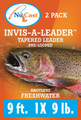 Invis-A-Leader Tapered Leader 2/pack