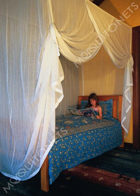 Cotton mosquito net & Mosquito Net Single/Twin Size | Box Shape | Bed Net Canopy on Sale
