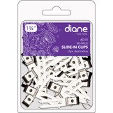 "Diane 1 3/4"" Slide In Double Prong Clips D19 80 Pack"