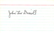 Paddy Driscoll Autographed 3x5 Index Card Chicago Bears JSA #Y95101